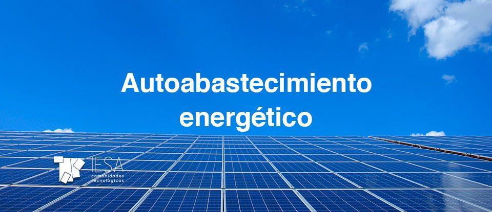Autoabastecimiento energético en Comunidades de Propietarios